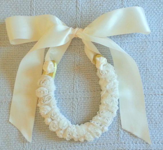 wedding horseshoe wrapped w rossette ribbon w door LuckyPonyShop, $45.00