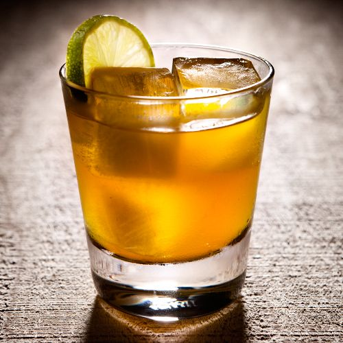 Jamaican Breeze:  1 slice Fresh ginger  1.5 ozAppleton Estate Reserve Rum  2 oz Pineapple juice  .5 oz Simple syrup (one part sugar, one part water)  1 dash Angostura Bitters