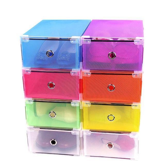 Tipo de caixa dobrável de armazenamento plástico colorido organizador para as mulheres