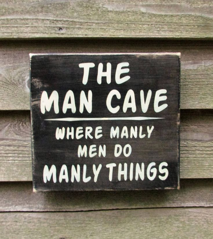 Man Cave Sign Gift For Dad Gift For Grandpa Primitive Rustic Home Decor Hand Painted Wood Sign Man Cave Home Decor Man Cave Ideas