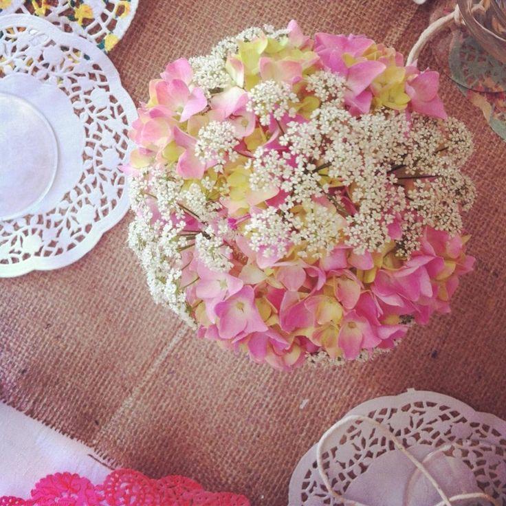 My wedding - Thurlestone 6/7/13  Flowers in tea cups