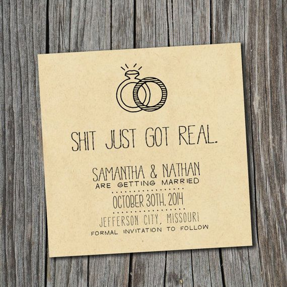 Save the Date Card - WHY didn't I see these back when I was shopping for our save the dates???