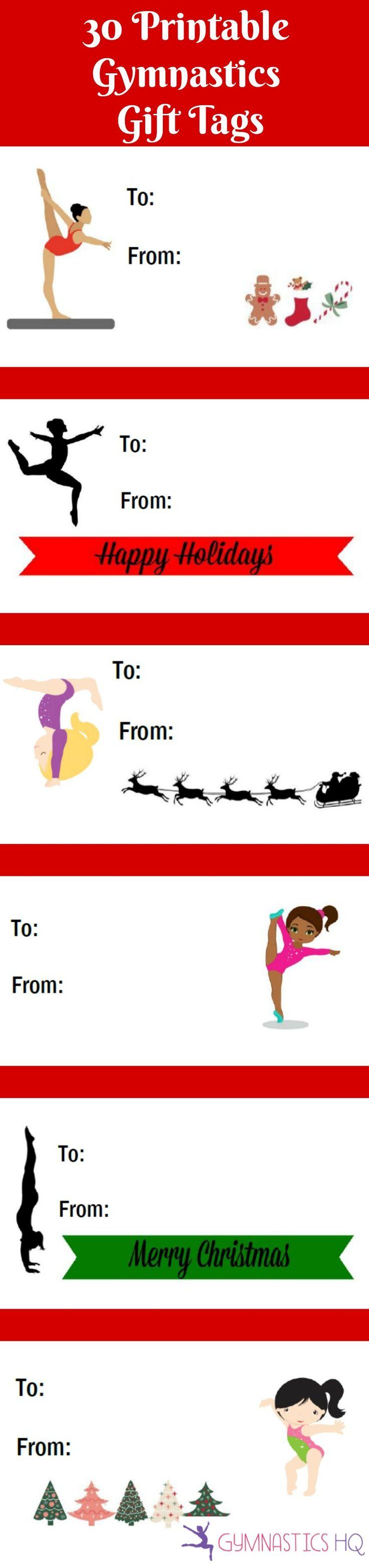 Gymnastics ornament christmas - 30 Free Printable Gymnastics Gift Tags