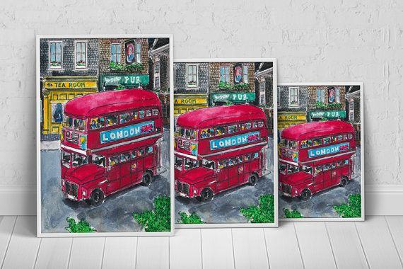 London City Bus Art Print Poster on Etsy, $27.35 AUD