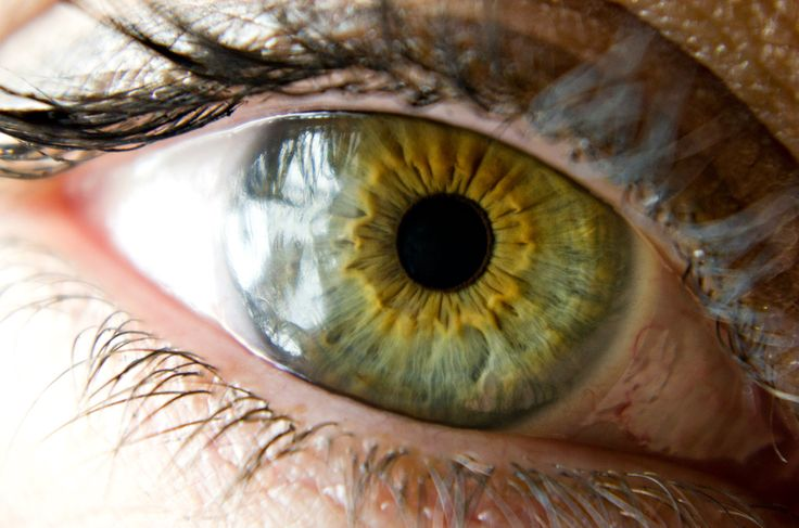 green eye with central...