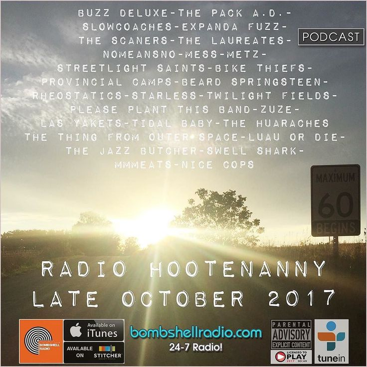 Bombshell Radio  Today  Radio Hootenanny 3pm-5pm EST  bombshellradio.com  bombshellradio.com Repeats Friday 3am-5am EST and Sundays 11am-1pm EST #RadioHootenanny #Radioshow #Dj #DJSkip #Alternative #Indie #Rock #Canadian #CollegeRock #BombshellRadio  our menu for Thursday Oct 19 and beyond is up! features  from: Buzz Deluxe The Pack AD Slowcoaches Expanda Fuzz the Scaners The Laureates NoMeansNo MESS METZ Streetlight Saints Bike Thiefs Provincial Camps Beard Springsteen Rheostatics Starless…