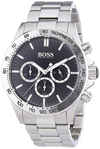 Hugo Boss 1513178 Ikon  - Wristwatch men's, Stainless Steel, Band Colour: Silver…