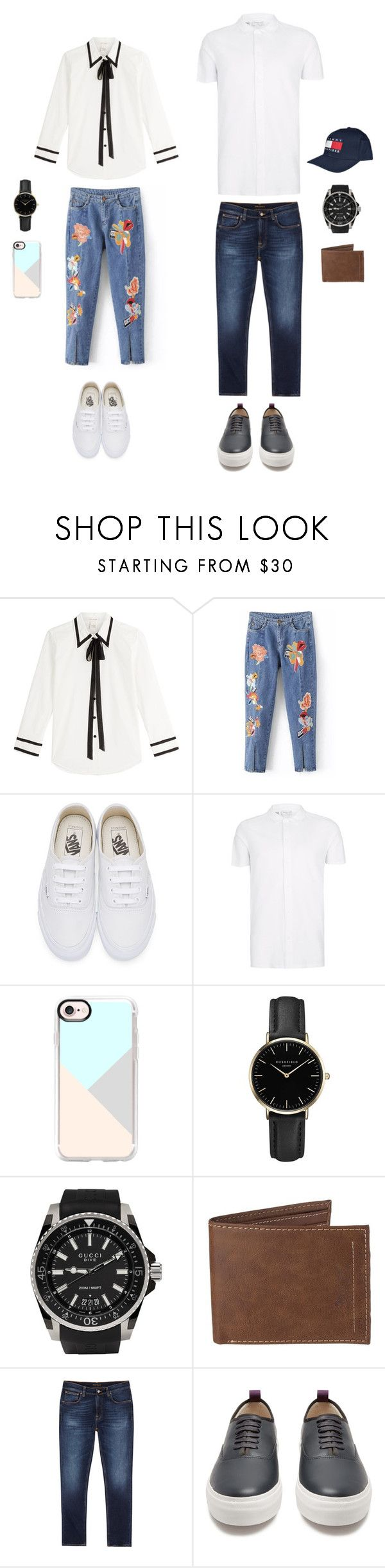 """Couple set"" by natasha-esprecielo on Polyvore featuring Marc Jacobs, Vans, Topman, Casetify, ROSEFIELD, Gucci, Levi's, Nudie Jeans Co., Eytys and Tommy Hilfiger"