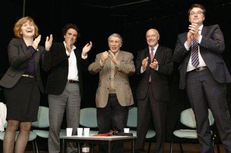 Première réunion de soutien à Hollande  Le président de la région Aquitaine, Alain Rousset, était l'invité de la soirée de mobilisation du PS libournais.