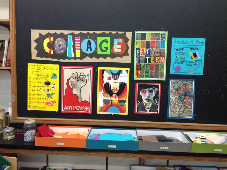 Collage signage- lovin' the pizza box storage idea