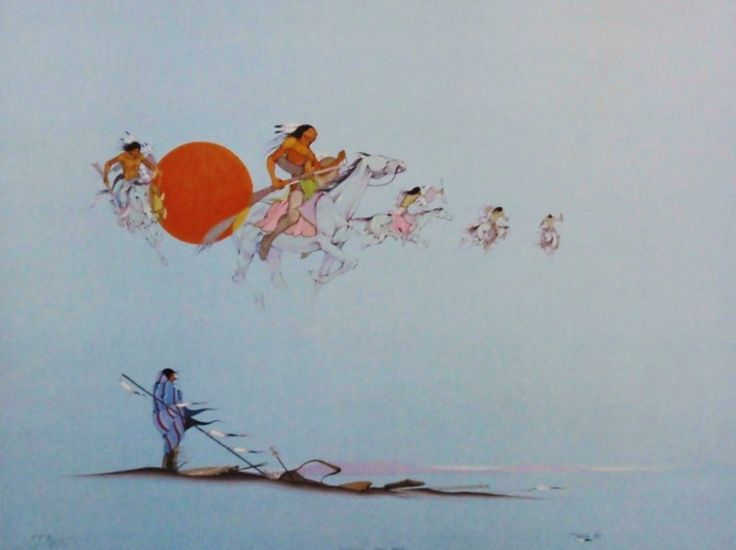 Yesterday They Rode by Jerome Tiger Signed Limited Edition Print