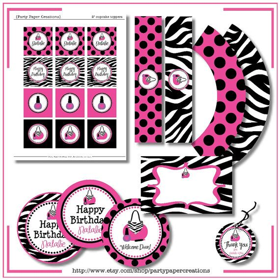 Glamour Girl Birthday Diva Party by partypapercreations on Etsy, $22.00