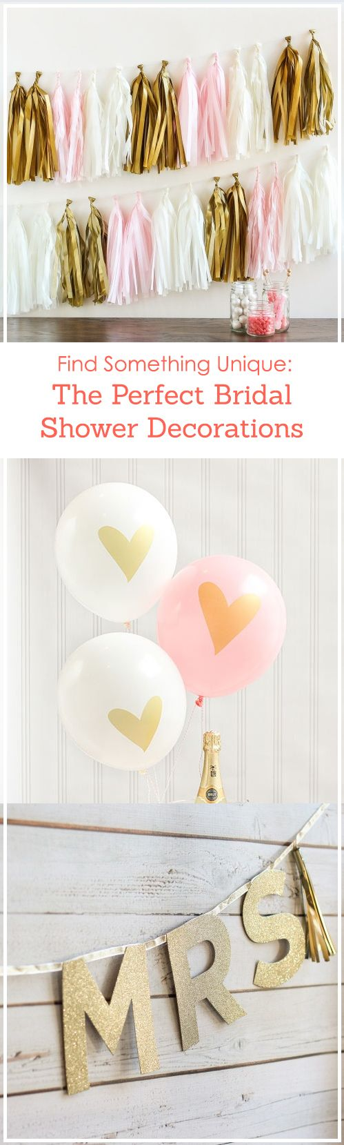 Celebrate the bride-to-be with a fun and unique bridal shower! Find the perfect decorations to shower her with love, from balloons to tassels!