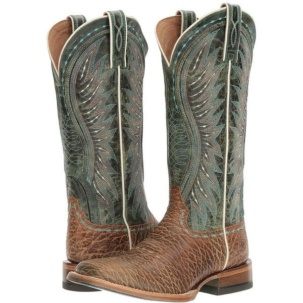Ariat Vaquera (Misty Turquoise Elephant Print/Meadowbrook) Cowboy... ($240) ❤ liked on Polyvore featuring shoes, boots, knee-high boots, knee high cowgirl boots, turquoise cowboy boots, knee boots, western boots shoes and elephant cowboy boots