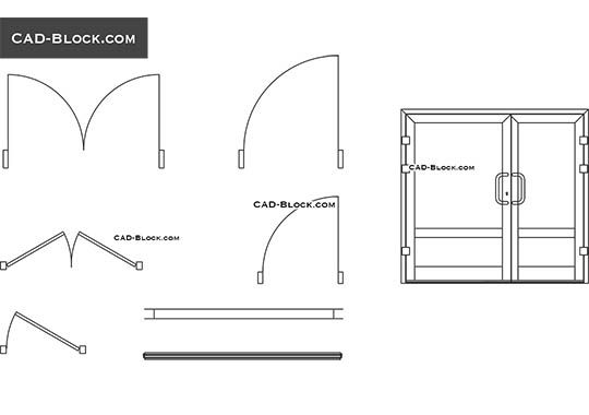 Door & window dynamic block - free AutoCAD Blocks