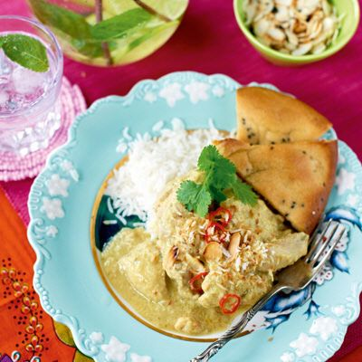Bild på Kyckling korma med kryddigt ris