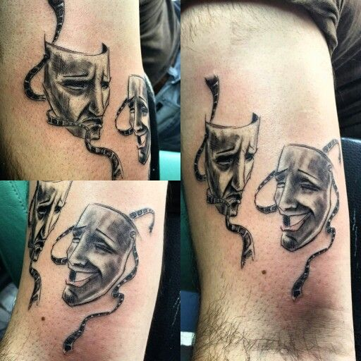 theater mask tattoo tattart pinterest mask tattoo theater and tattoos and body art. Black Bedroom Furniture Sets. Home Design Ideas