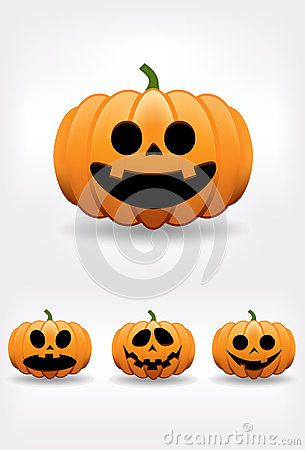 Halloween pumpkin illustration set for your project