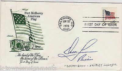 DALLAS GREEN NY YANKEES BASEBALL MANAGER VINTAGE AUTOGRAPH SIGNED MAIL COVER