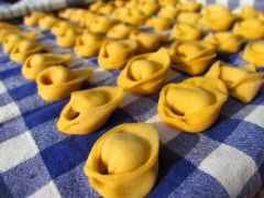 Tortelloni with pumpkin filling