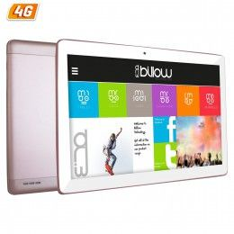 "TABLET BILLOW 10.1"" IPS X104 4G ROSA QC1.2/1+16GB  Especificaciones La Tablet X104x incorpora un panel HD con resolución de 1280*800, procesador de cuatro núcleos, memoria de 1GB DDR3, cámara frontal de 5MP y trasera de 8MP y memoria interna de 16 GB, GPS, Bluetooth 4."