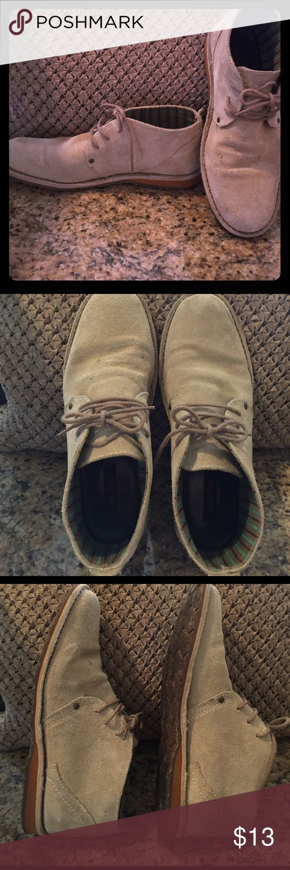 MEN'S RED TAPE RUGGED SUEDE CHUKKA BOOTS Taupe colored chukka boots suede size 10 GOOD condition red tape Shoes Chukka Boots