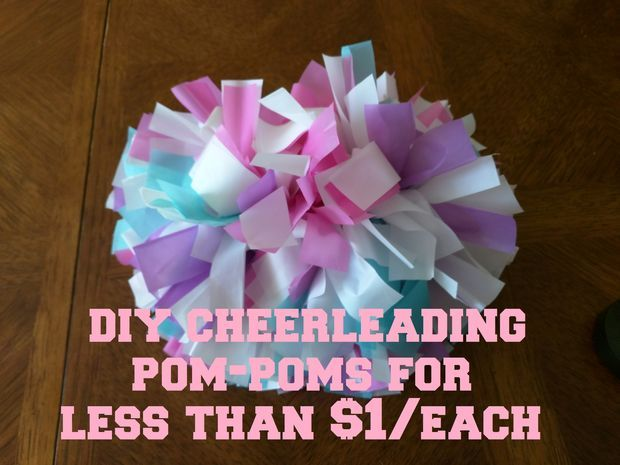 DIY Cheerleading Pom-Poms