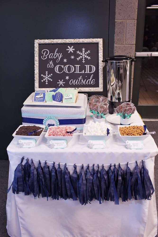 Ice Skating Birthday Party Ideas Cocoa Bar Bar And