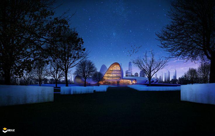 Heydar Aliyev Cultural Centre, In Azerbaijan. rendering And Visualizing