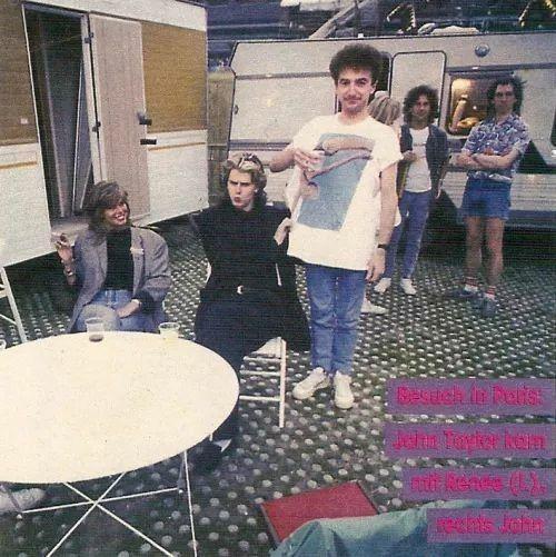 Renée Simonsen, John Taylor and John Deacon in Paris, 1986 :D