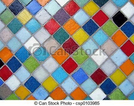 färgrik, mosaik - csp0103985