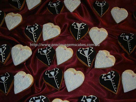 Wedding bomboniere couple cookies