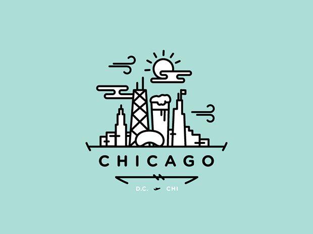 Logo por TJ Cichecki - ilustração monoweight