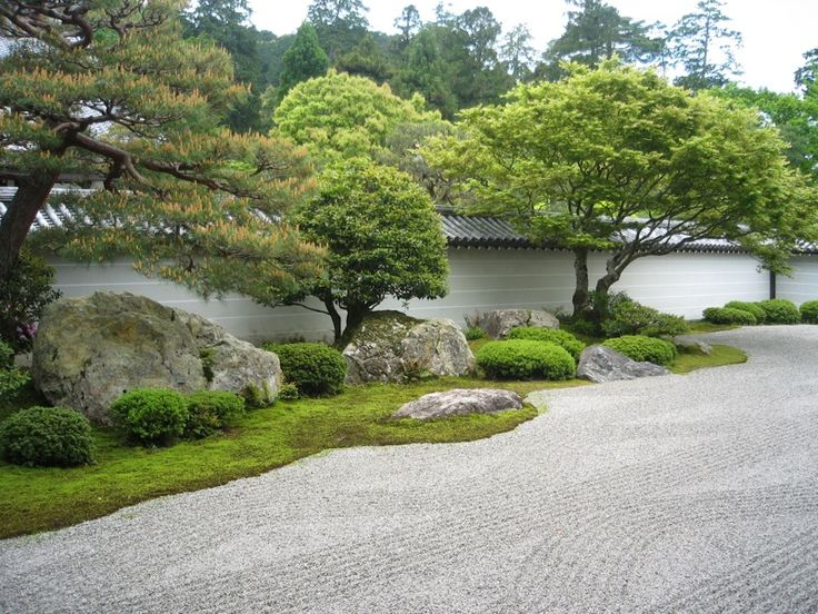 the dry landscape garden or karesansui is a symbolic element in zen not only is it utterly simple which is very common to zen but it is also very