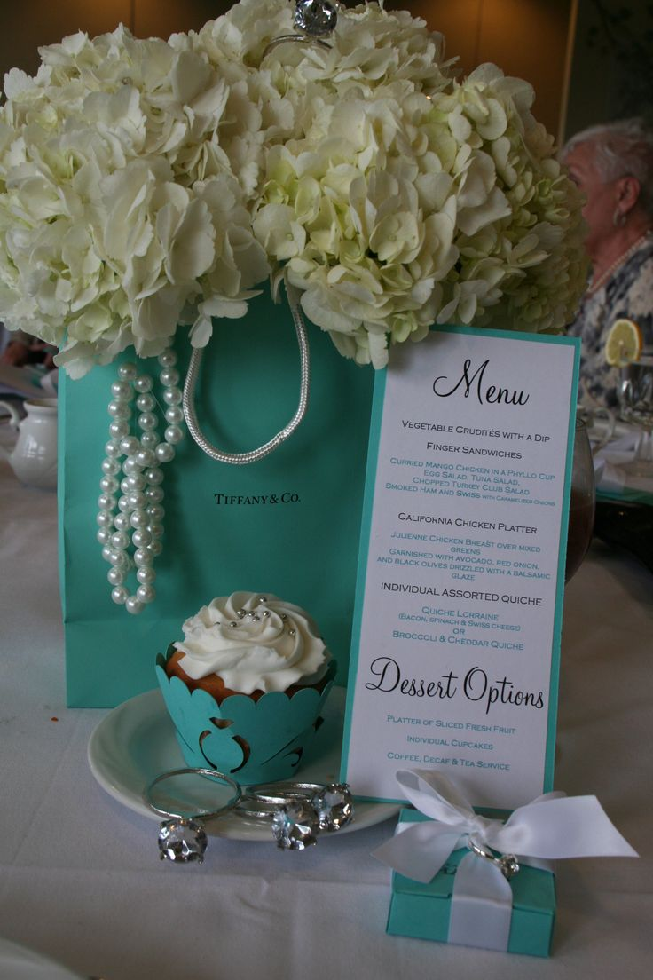 "Tiffany Table Centerpiece. FACTORY DIRECT.COM ""I want to have a luncheon bridal shower or Tiffany party similar to this"""