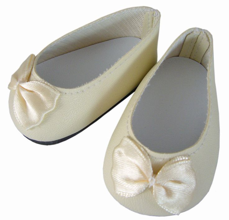 Ivory Colored Flat Shoes