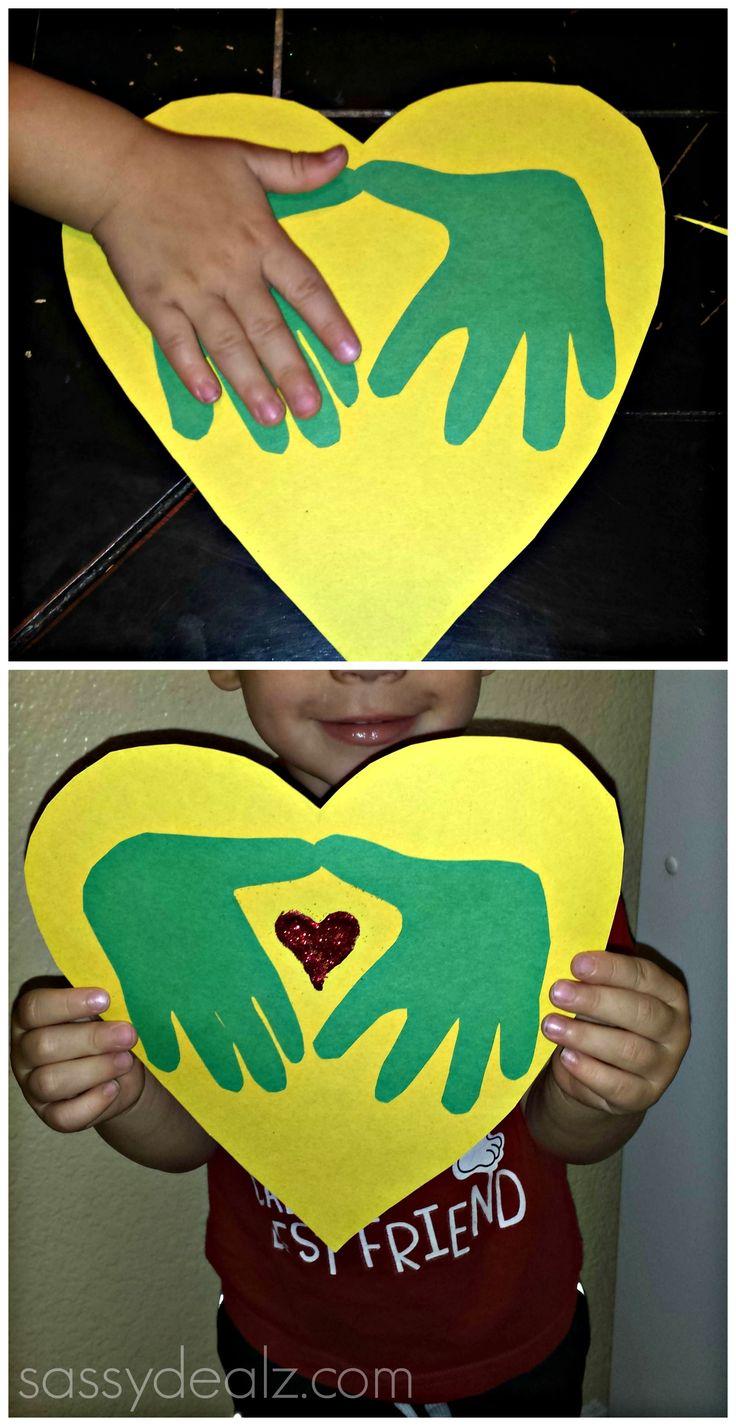 I love you handprint craft for kids valentines day card - Sassydeals com ...