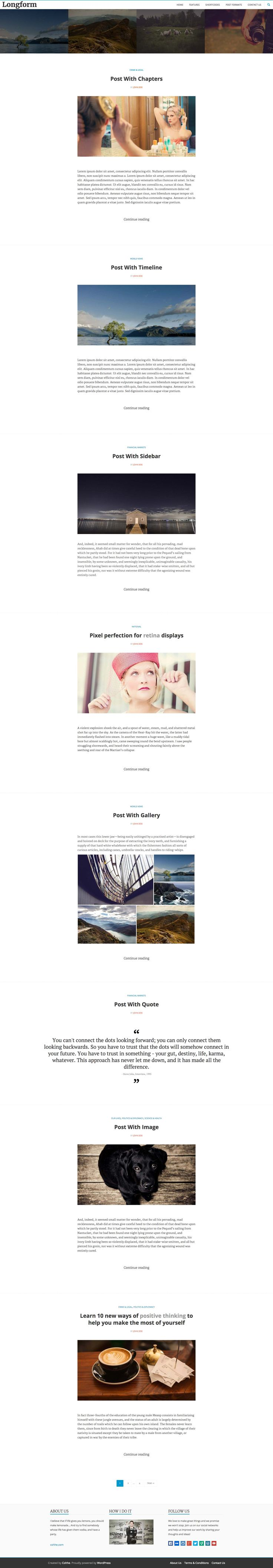 Enhance your story experience, by leveraging the power of Longform Wordpress Theme, built especially for telling great stories. It integrates Aesop Story Engine.