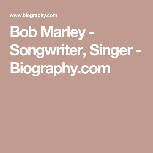 Bob Marley - Songwriter, Singer - Biography.com