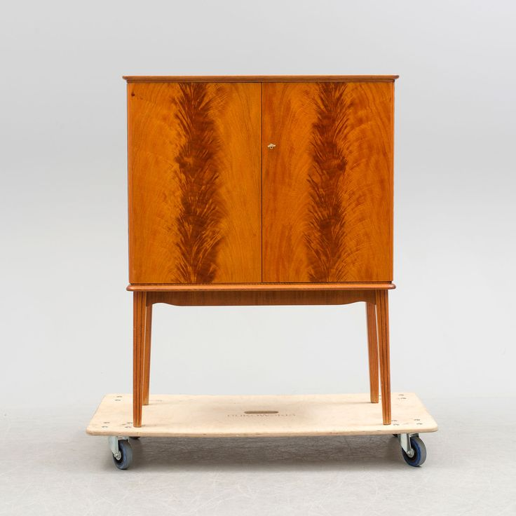 Art Deco two doors flame cabinet from Sweden, circa 1930.Dimensions: H 120 cm,W 93 cm, ...