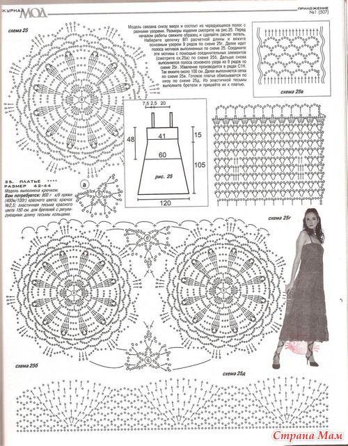 Saia degradê em crochê | Gráficos e Receitas