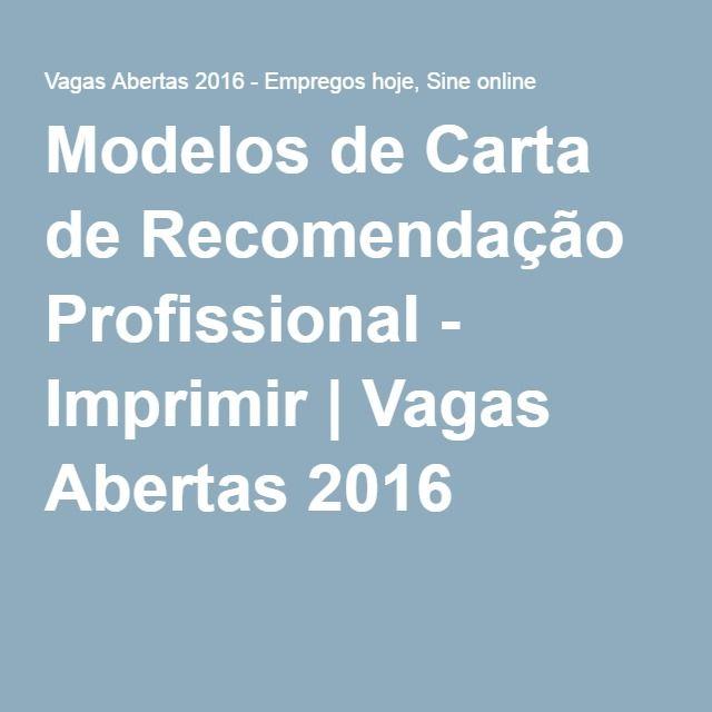 modelos de carta de recomenda u00e7 u00e3o profissional