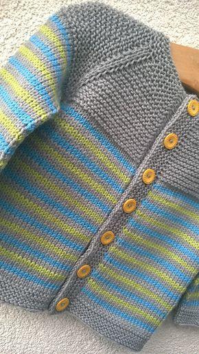 Ravelry: Project Gallery for garter yoke baby cardi pattern by Jennifer Hoel. 1-12 months