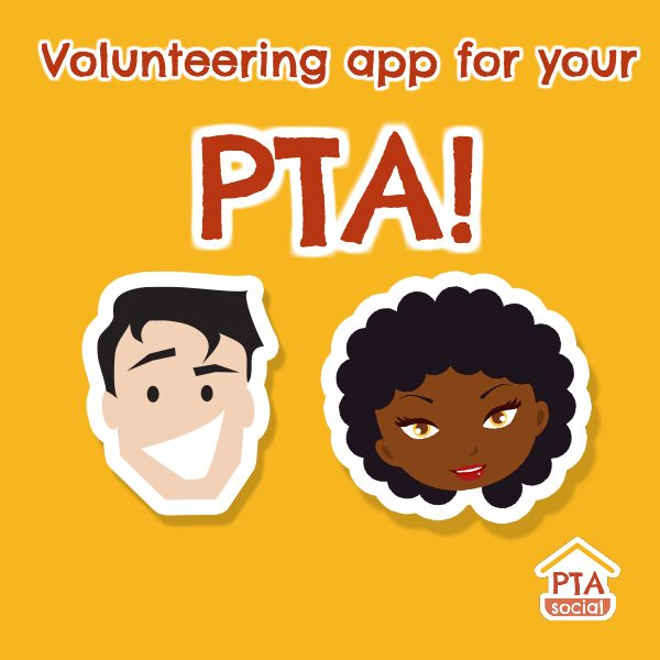 PTAsocial is a free volunteering app for your PTA. Get started in just 2 minutes. We'll help you boost your volunteer numbers dramatically! :)