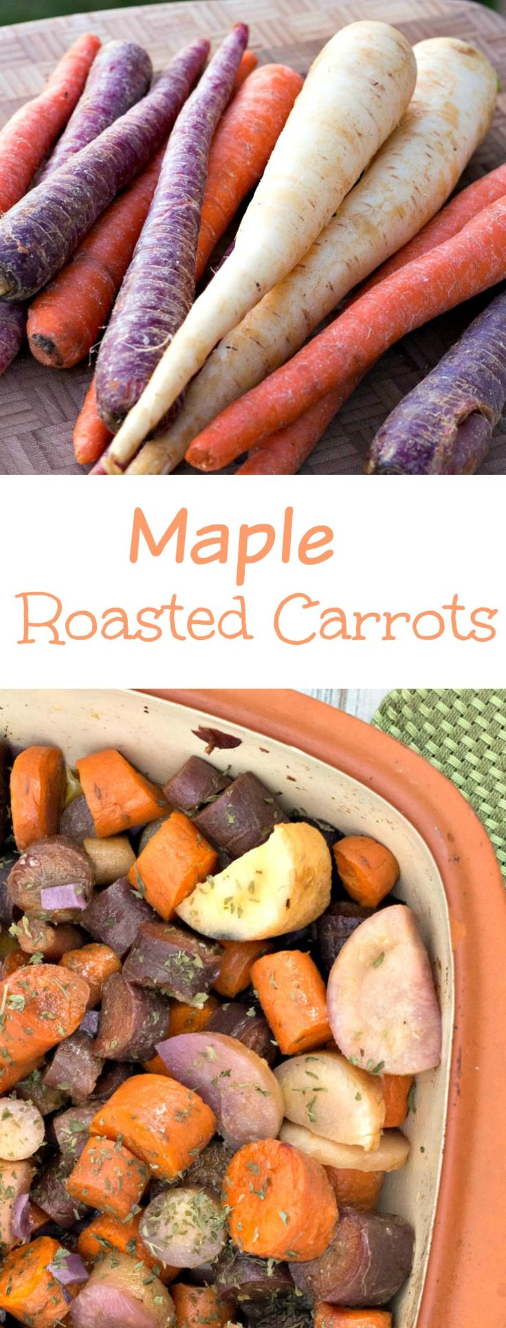 Maple Roasted Carrots - a simple side dish made by roasting carrots ...