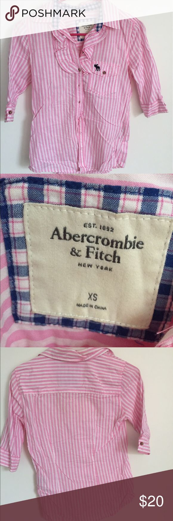 Abercrombie Dress Shirt Great condition, no defects! Super cute! Abercrombie & Fitch Tops Button Down Shirts