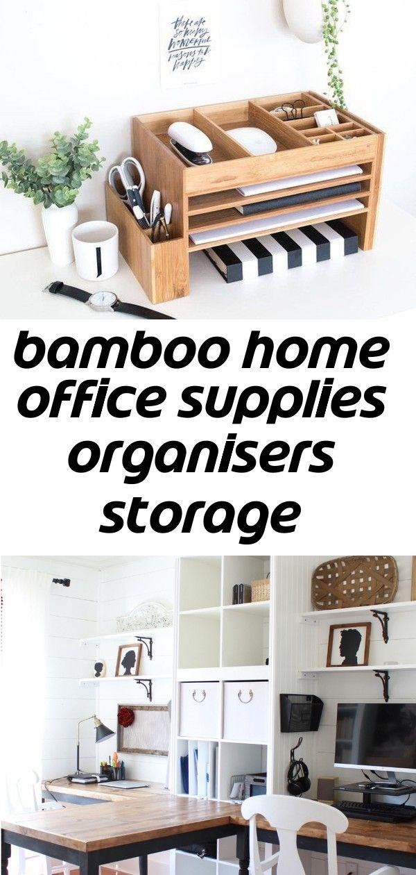 Bamboo Home Office Supplies Organisers Storage Desktop Accessories