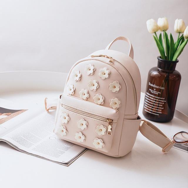 d85e8a926f6 Women Flower Mini Bag Printing Backpack Female Korean School Bags for  Teenagers Girls