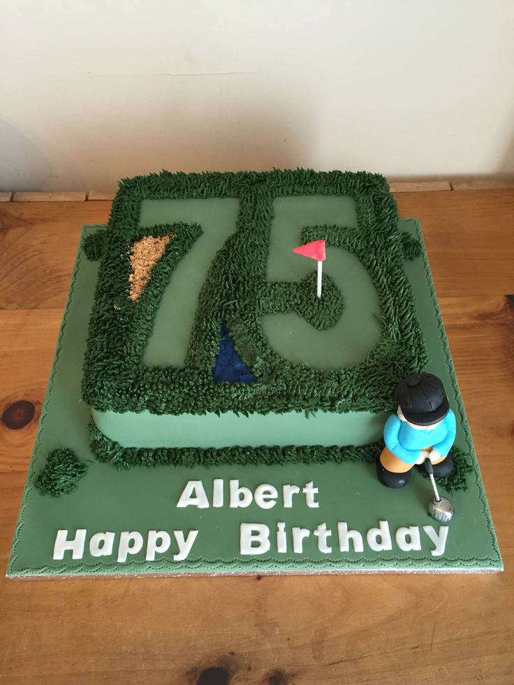 Golf cake 75th birthday cake mans cake cakes for 75th birthday decoration ideas