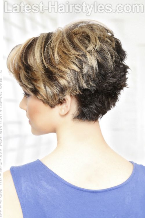 Short Hairstyle with Heavy Texture Back...SINCE THERE IS NO CHOICE after the massacre of my hair : (